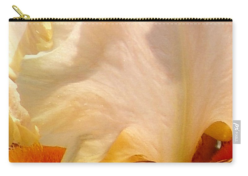 Pink And Purple Carry-all Pouch featuring the photograph Pink And Purple Iris 2 by David Hohmann