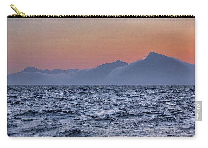 Scenics Carry-all Pouch featuring the photograph Ragged Coastline Of Faroe Islands by Sindre Ellingsen