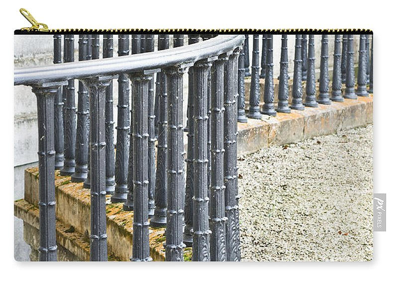 Abstract Carry-all Pouch featuring the photograph Railings by Tom Gowanlock