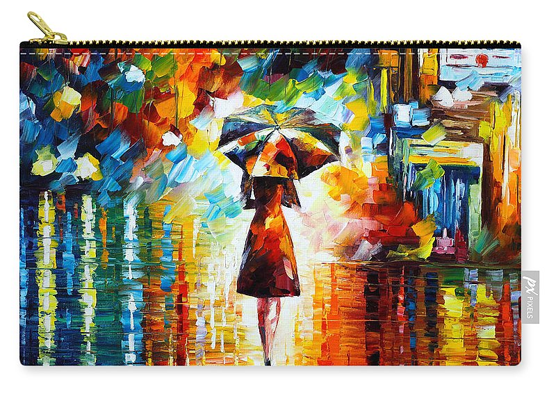 Rain Carry-all Pouch featuring the painting Rain Princess by Leonid Afremov