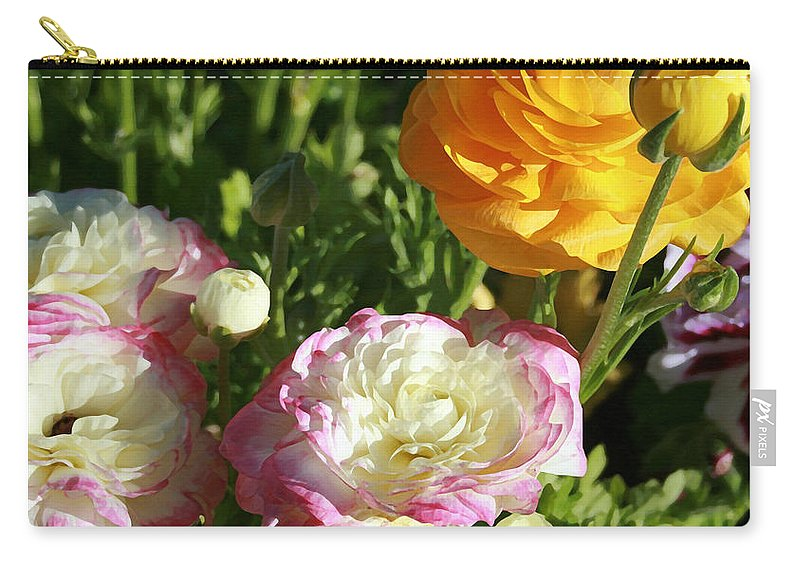 Ranunculus Carry-all Pouch featuring the painting Ranunculus 1 by Ellen Henneke