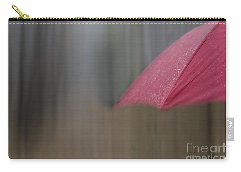 Umbrella Carry-all Pouch featuring the photograph Red Umbrella by Mats Silvan