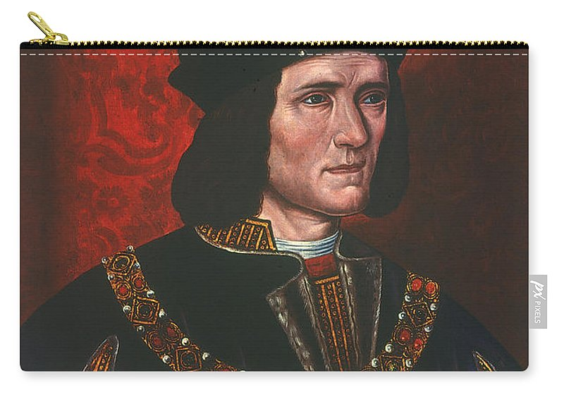 15th Century Carry-all Pouch featuring the painting Richard IIi (1452-1485) by Granger