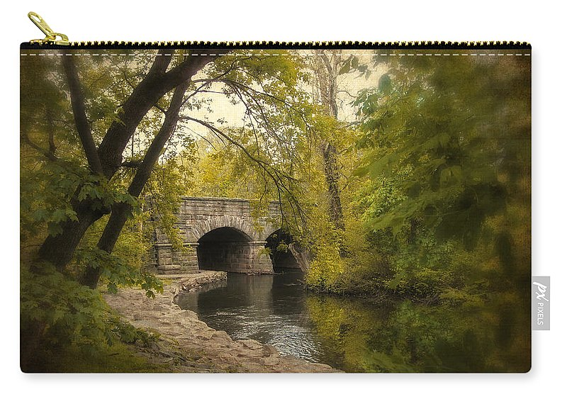 River Carry-all Pouch featuring the photograph Riverbank Reflections by Jessica Jenney