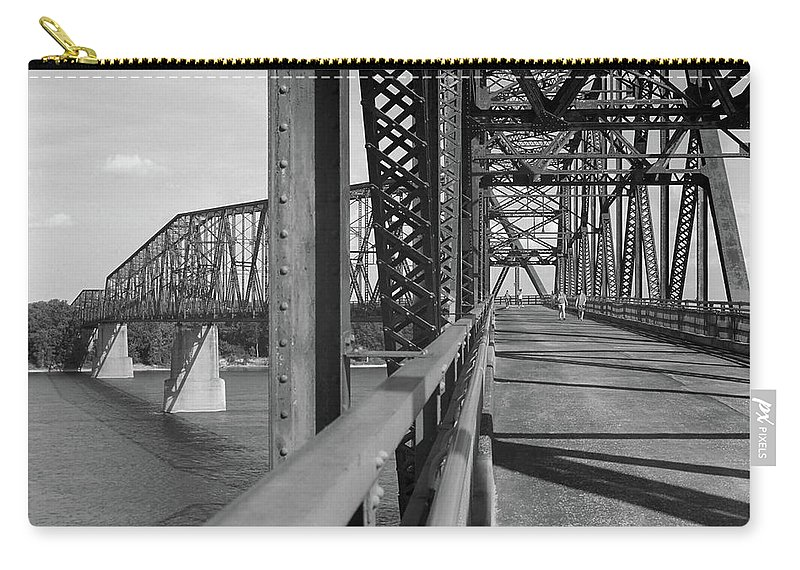 66 Carry-all Pouch featuring the photograph Route 66 - Chain Of Rocks Bridge by Frank Romeo