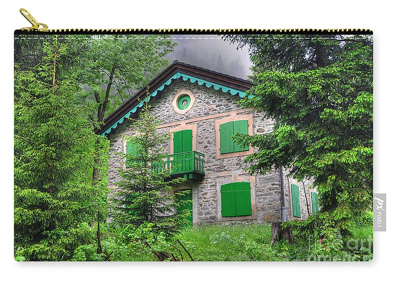 House Carry-all Pouch featuring the photograph Rustic House by Mats Silvan