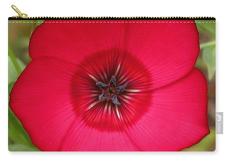 Mccombie Carry-all Pouch featuring the painting Scarlet Flax by J McCombie