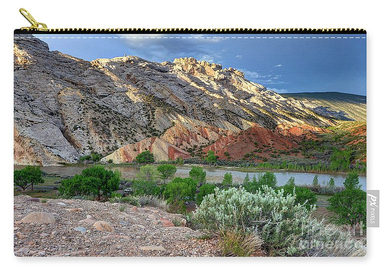 Spring Carry-all Pouch featuring the photograph Spring Storm Over Split Mountain Dinosaur National Monument by Gary Whitton