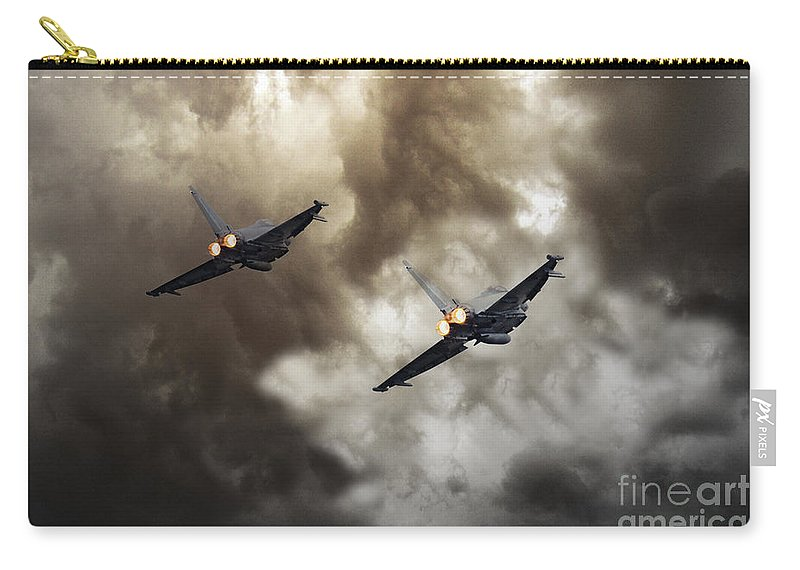 Raf Typhoon Carry-all Pouch featuring the digital art 3 Squadron by J Biggadike