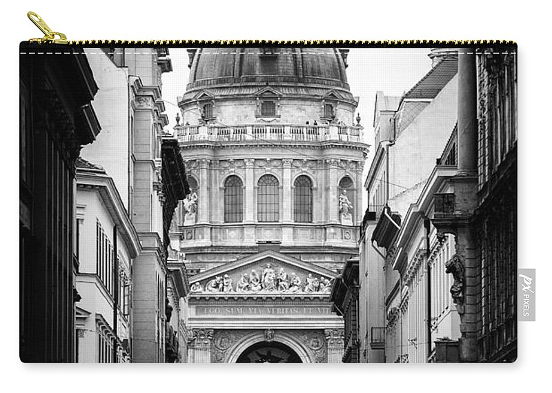 Budapest Carry-all Pouch featuring the photograph St. Stephen's Basilica by Mohamed Rahmo