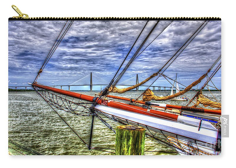 Tall Ships Carry-all Pouch featuring the photograph Pointing South by Dale Powell