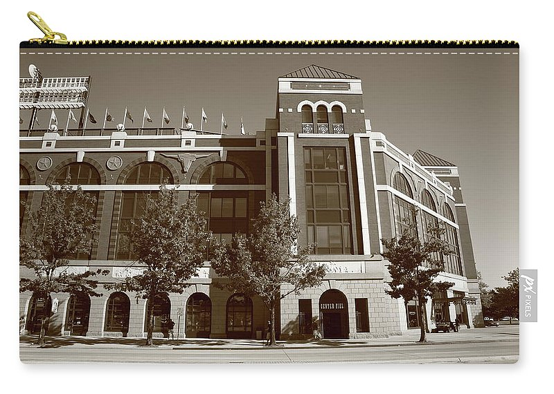 America Carry-all Pouch featuring the photograph Texas Rangers Ballpark In Arlington by Frank Romeo