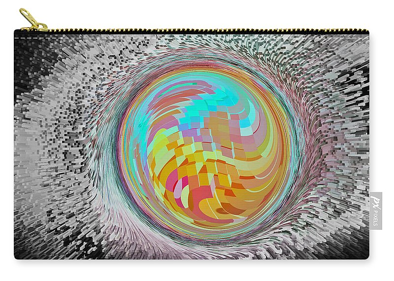 Orb Carry-all Pouch featuring the digital art The Orb Art by David Pyatt