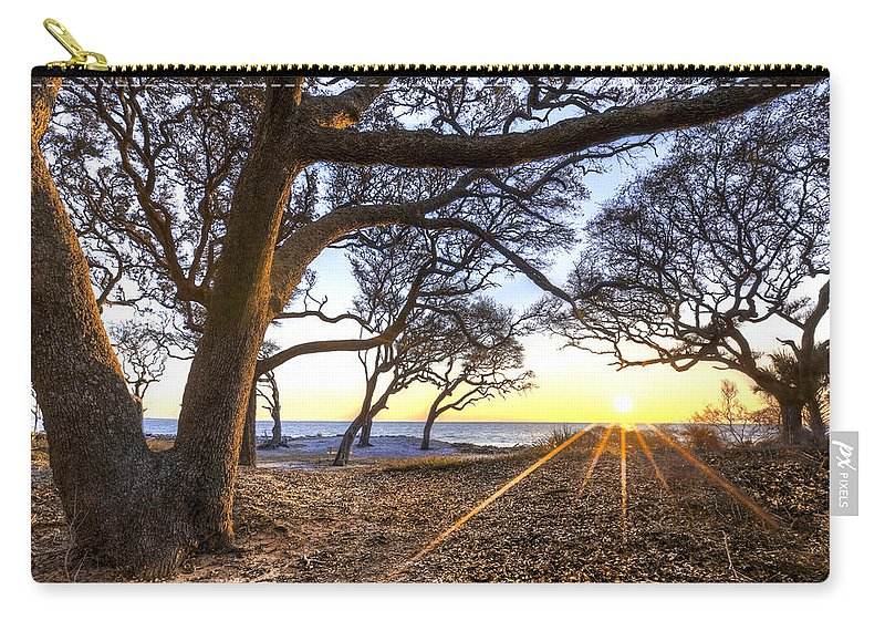 Clouds Carry-all Pouch featuring the photograph The Reach by Debra and Dave Vanderlaan