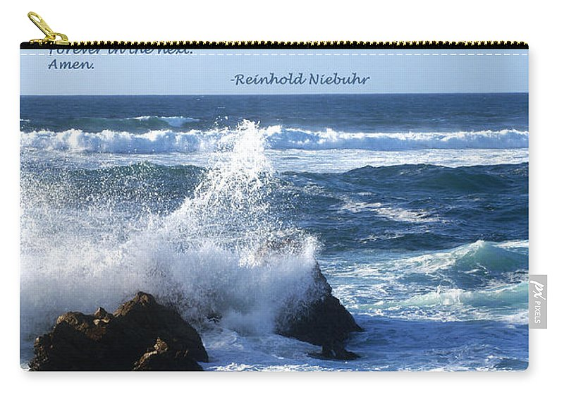 Barbara Snyder Carry-all Pouch featuring the digital art The Serenity Prayer by Barbara Snyder