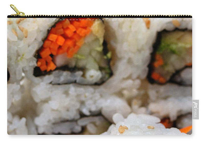 Appetizer Carry-all Pouch featuring the photograph Vegetable Sushi by Amy Cicconi