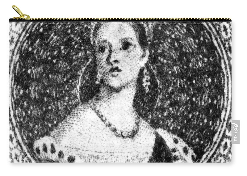1853 Carry-all Pouch featuring the painting Victoria Of England (1819-1901) by Granger