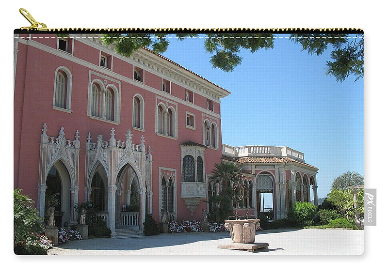 Villa Carry-all Pouch featuring the photograph Villa Ephrussi De Rothschild by Christiane Schulze Art And Photography