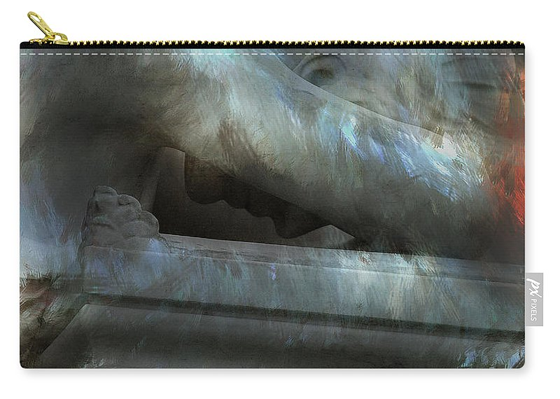 Chico Carry-all Pouch featuring the painting Weeping Angel by Peter Piatt