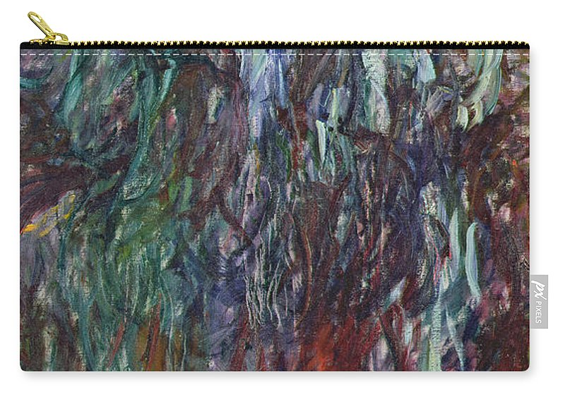 Le Saule Pleureur Carry-all Pouch featuring the painting Weeping Willow by Claude Monet