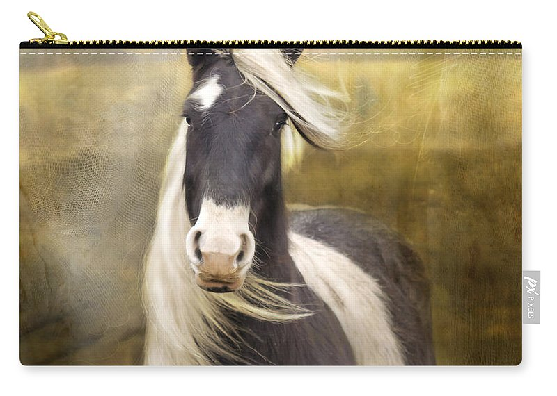 Horse Carry-all Pouch featuring the photograph Welsh Cob by Angel Ciesniarska