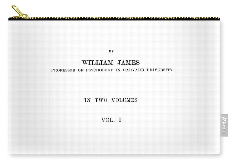 1890 Carry-all Pouch featuring the photograph William James (1842-1910) by Granger