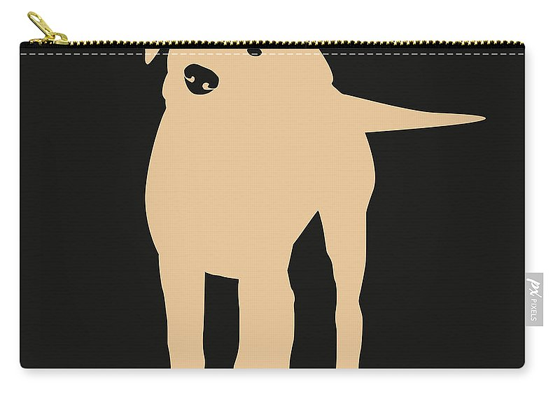 Silhouette Carry-all Pouch featuring the digital art Yellow Labrador by Elizabeth Harshman