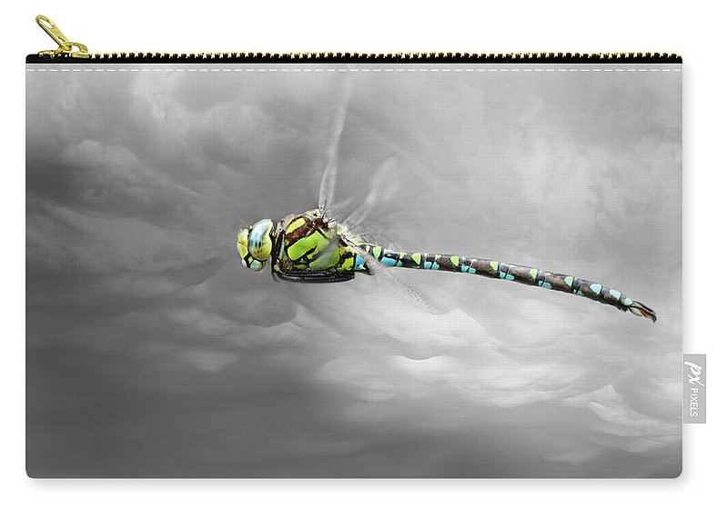 Dragonfly Carry-all Pouch featuring the photograph Dragonfly by Heike Hultsch