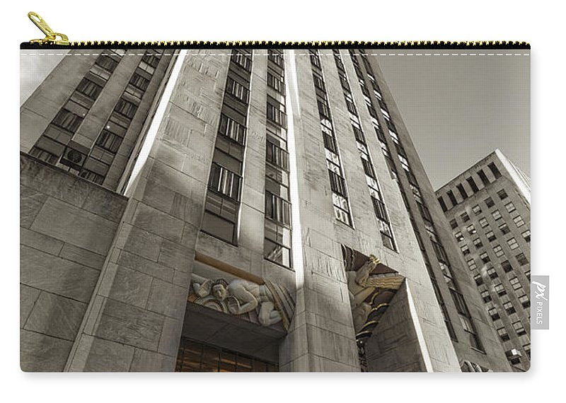 30 Rock Carry-all Pouch featuring the photograph 30 Rock by David B Kawchak Custom Classic Photography
