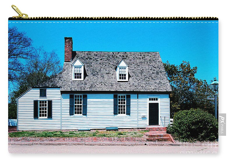 Fine Art Carry-all Pouch featuring the photograph 303 Prince George Street- Williamsburg photography- altered art by Patricia Griffin Brett