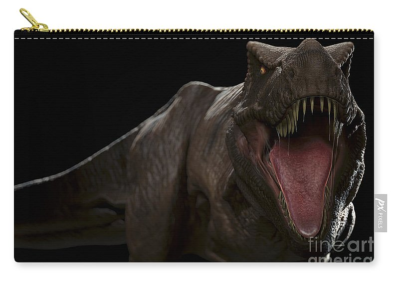 T.rex Carry-all Pouch featuring the photograph Dinosaur Tyrannosaurus by Science Picture Co