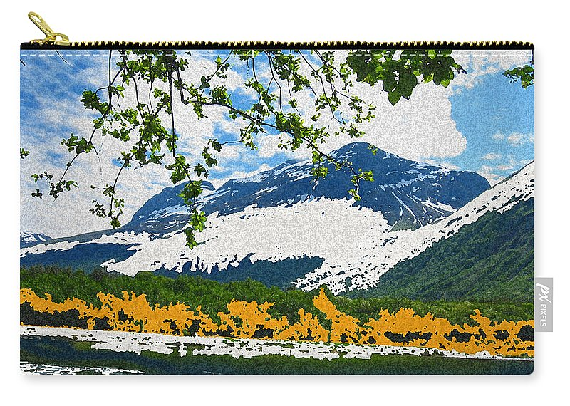 Norway Landscape Carry-all Pouch featuring the digital art Norway Landscape by Augusta Stylianou