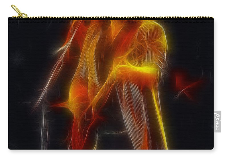 Abstract Carry-all Pouch featuring the photograph 38 Special-94-don-ge17a-fractal by Gary Gingrich Galleries
