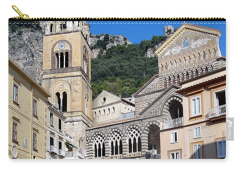 Amalfi Coast Carry-all Pouch featuring the photograph Views From The Amalfi Coast In Italy by Richard Rosenshein