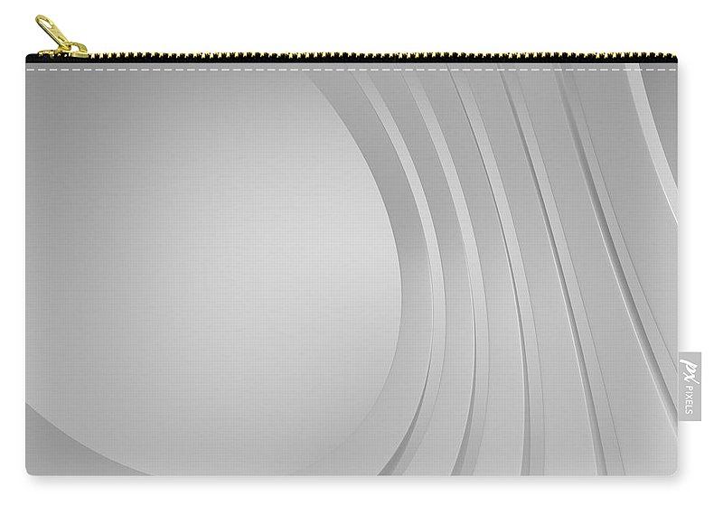 Arch Carry-all Pouch featuring the photograph 3d Blank Abstract Architecture by Me4o