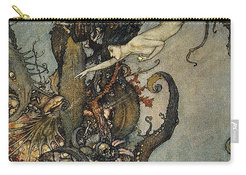 1911 Carry-all Pouch featuring the photograph Andersen: Little Mermaid by Granger