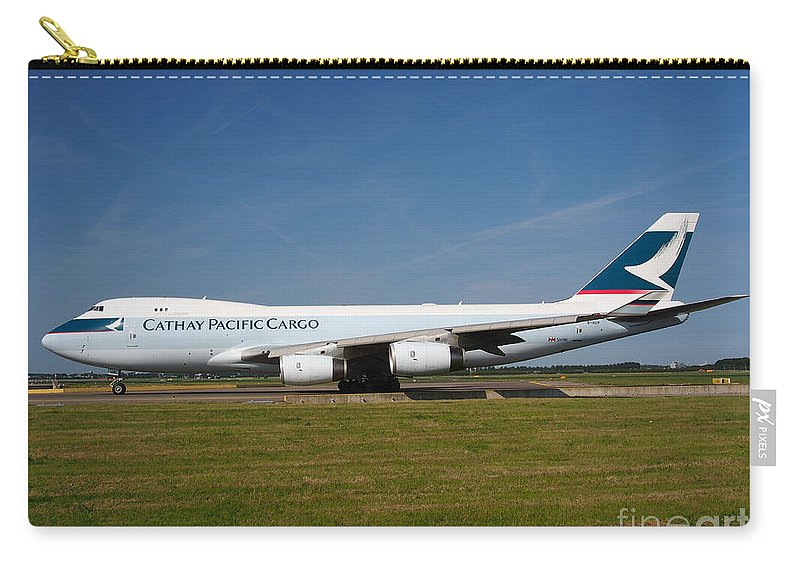737 Carry-all Pouch featuring the photograph Cathay Pacific Boeing 747 by Paul Fearn