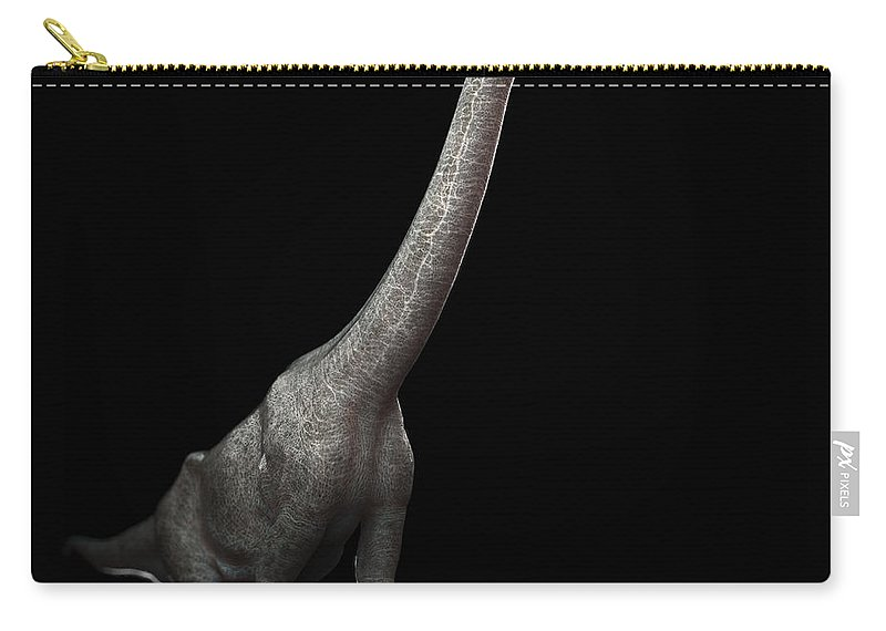 Evolve Carry-all Pouch featuring the photograph Dinosaur Brachiosaurus by Science Picture Co