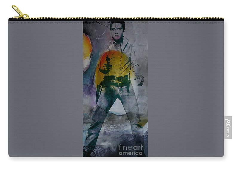Elvis Art Carry-all Pouch featuring the mixed media Elvis by Marvin Blaine