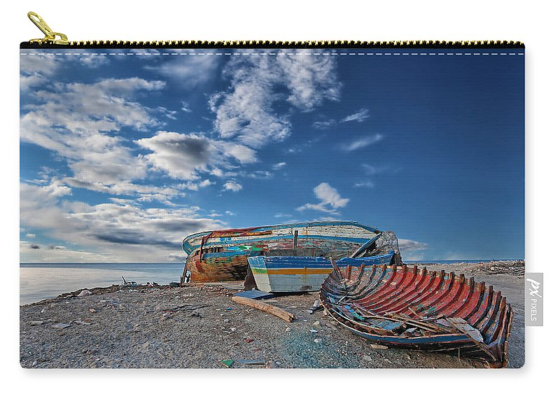 Boat Carry-all Pouch featuring the photograph Fishing Boat by Paul Fell