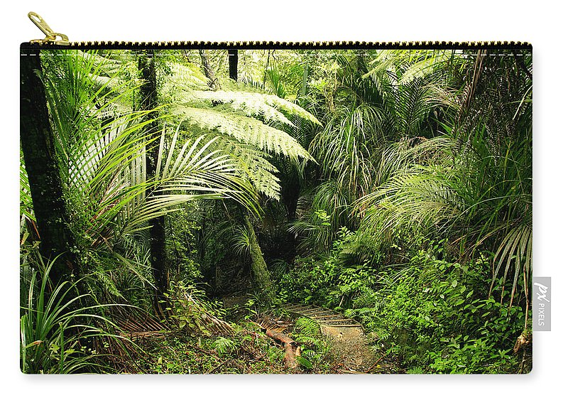 Jungle Carry-all Pouch featuring the photograph Forest No1 by Les Cunliffe