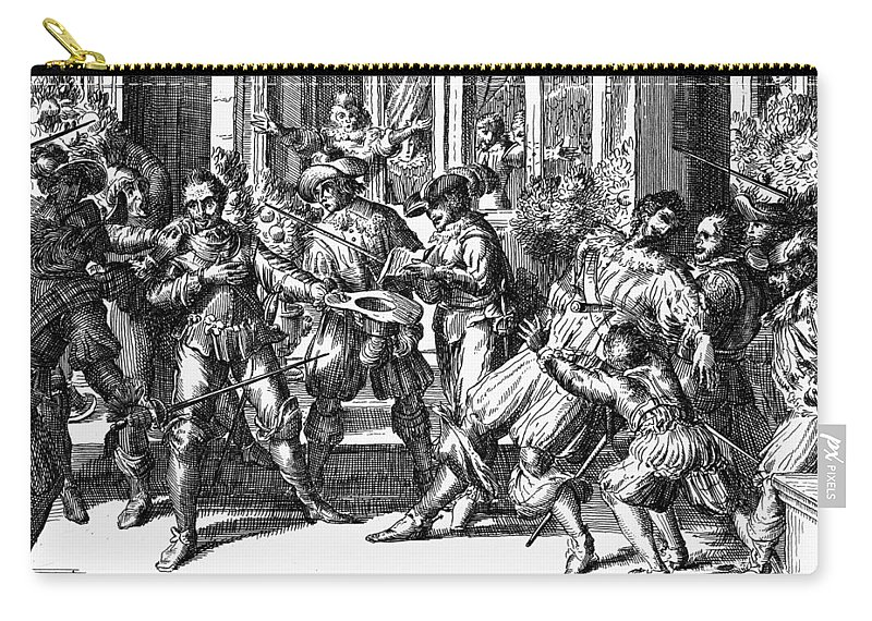 1628 Carry-all Pouch featuring the painting George Villiers (1592-1628) by Granger