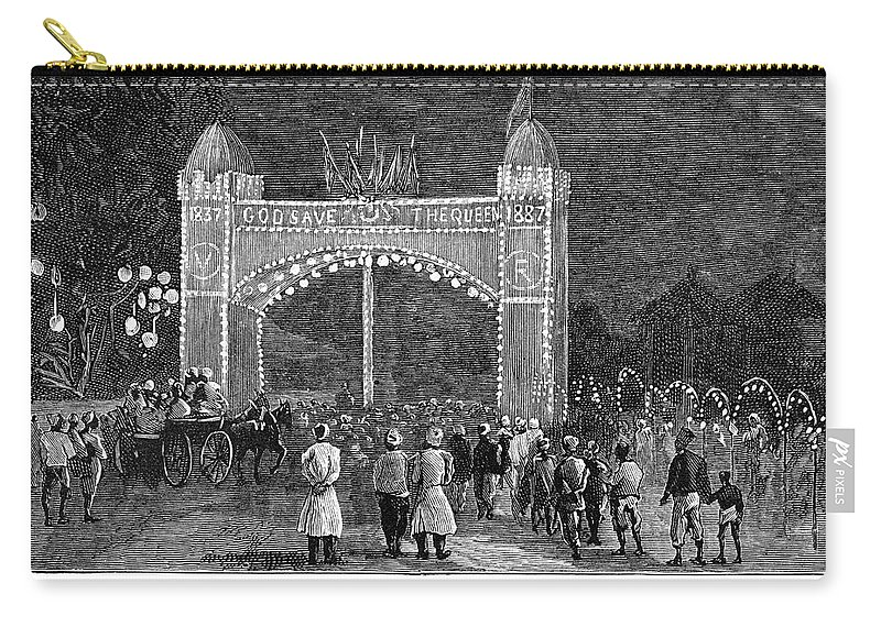1887 Carry-all Pouch featuring the painting Golden Jubilee, 1887 by Granger