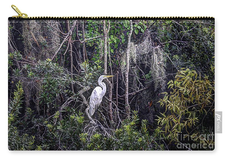 White Heron Carry-all Pouch featuring the photograph Heron Colors by Dale Powell