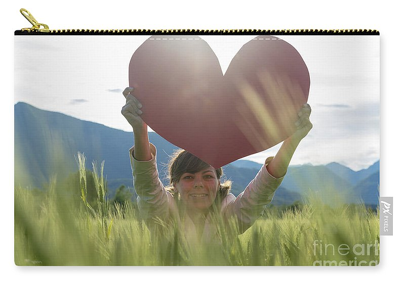Woman Carry-all Pouch featuring the photograph Heart by Mats Silvan