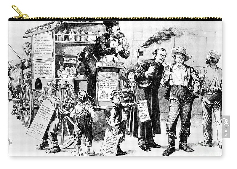 1887 Carry-all Pouch featuring the photograph Henry George (1839-1897) by Granger