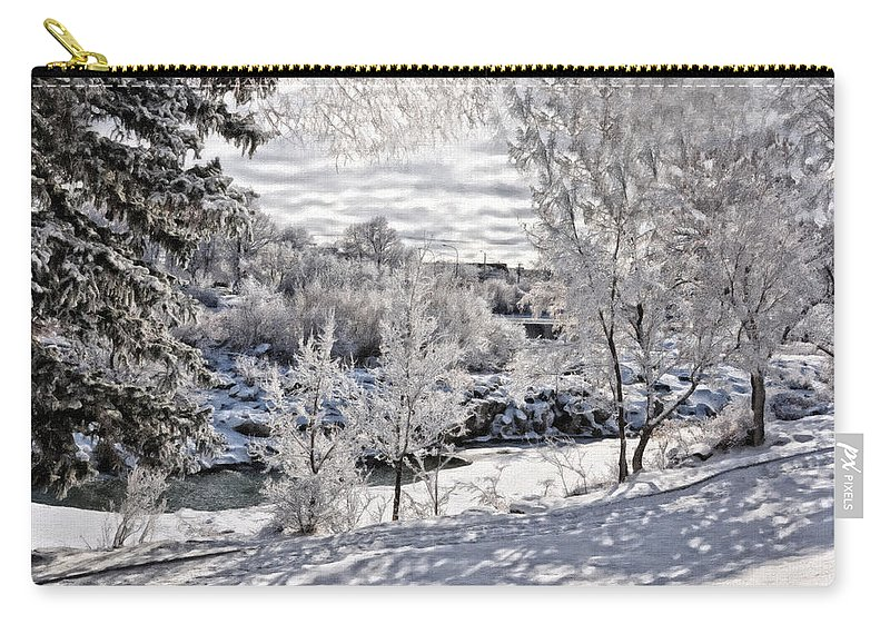 Idaho Falls Carry-all Pouch featuring the photograph Idaho Falls by Image Takers Photography LLC