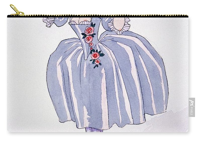 Illustration Carry-all Pouch featuring the painting Illustration For 'fetes Galantes' by Georges Barbier