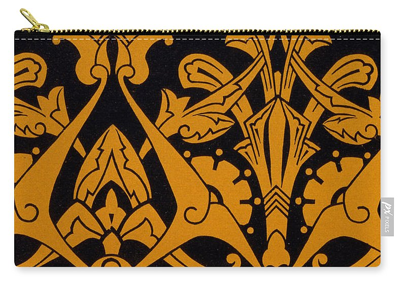 Textile Carry-all Pouch featuring the painting Illustration From Studies In Design by Christopher Dresser