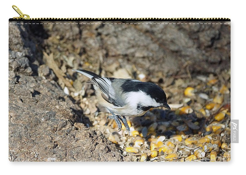 Chickadee Carry-all Pouch featuring the photograph Jump by Lori Tordsen